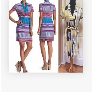 Trina Turk 100% Silk short sleeves dress